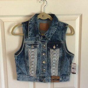 NWT Amethyst Jean Vest
